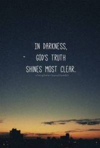 God and darkness
